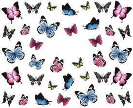 SENECIO™ Lovely Butterfly Nail Art Manicure Decals Water Transfer Stickers 1 Sheet
