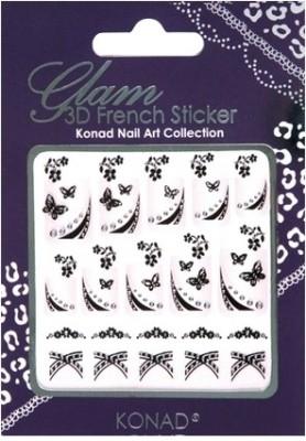Konad Glam 3D French Nail Art Sticker