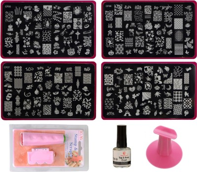 Lifestyle-You Nail Stamping Combo Kit with 4 Jumbo Image Plate Set WA50_C