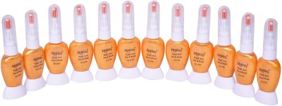 Foolzy Pack of 12 Nail Art 2 way Polish with Pen and Brush