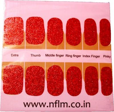 NFLM Designer Nailwear Red Glitter