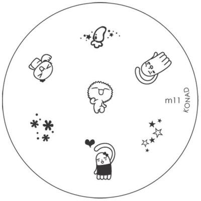 Konad Stamping Image Plate M11