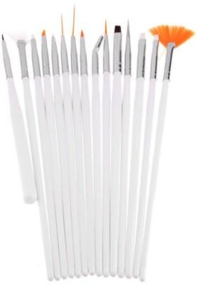 Ski 15pcs Nail Art Design Painting Drawing UV Polish Brush Tools Set Kit