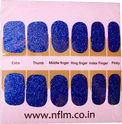 NFLM Designer Nailwear Blue Sparkle