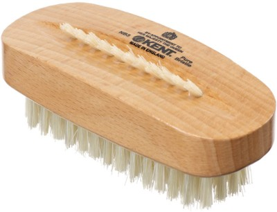 Kent NB3 Pure Beechwood & Pure Bristle Nail Brush 98mm