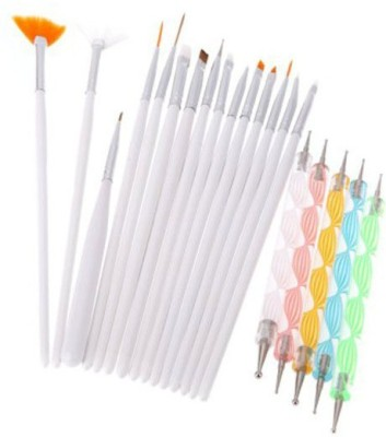 Ski 20pcs Nail Art Design Dotting Pen Painting Polish Brush Tools Set Kit