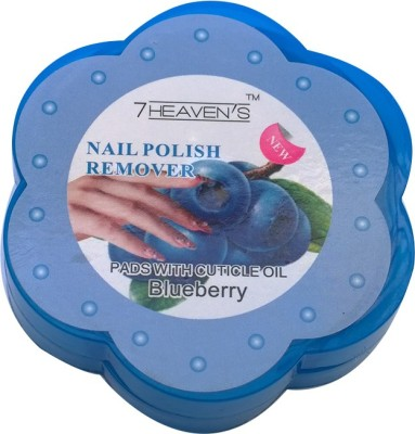 Brndey 7 Heaven's Nail Polish Remover Pads with Cuticle oil in Blueberry