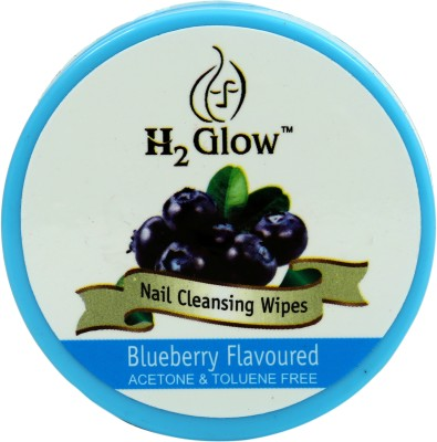 H2 Glow Blueberry Nail Paint Remover Pads