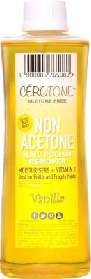 CERO Cerotone VANILLA Perfumed NON ACETONE Nail Polish Remover (ACETONE FREE best for Fragile / Brittle Nails) Moisturisers + Vitamin E