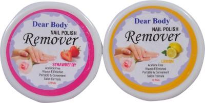 Dear Body Nail Polish Remover Pads(Strawberry&Lemon)