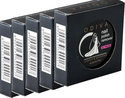 Odiva Nail Remover Round Wipes (5 Packs Of 30 Pads)