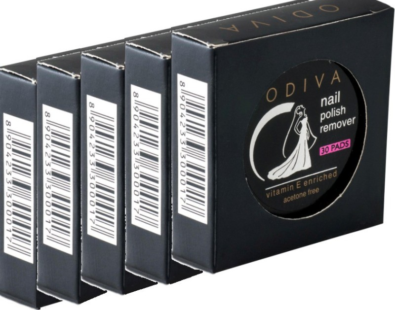 Odiva Nail Remover Round Wipes (5 Packs Of 30 Pads)(150)
