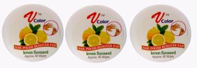 V-Color Nail Polish Remover Pads (Lemon-3)(120 g)