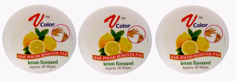 V-Color Nail Polish Remover Pads (Lemon-3)(120 g)