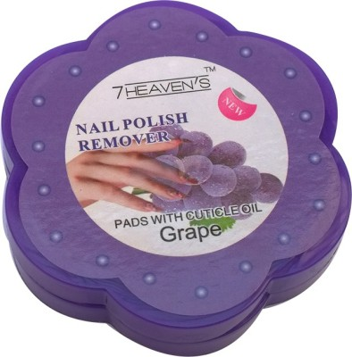Brndey 7 Heaven's Nail Polish Remover Pads with Cuticle Oil in Grapes