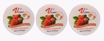 V-Color Nail Polish Remover Pads (Strawberry-3)