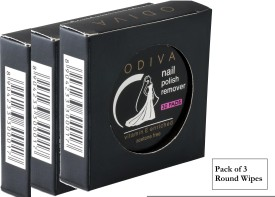 Odiva Nail Remover Round Wipes (3 Packs of 30 Pads)