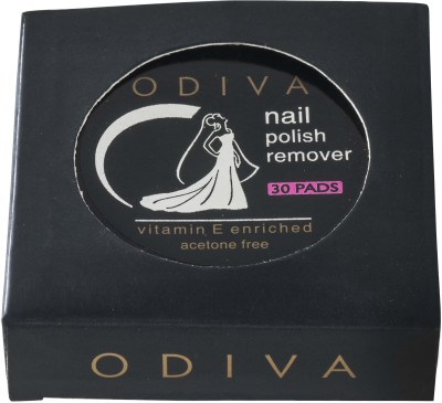 Odiva Nail Remover Round Wipes (30 Pads)