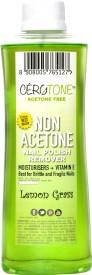 "Cero Cerotone LEMON GRASS Perfumed ""NON ACETONE"" Nail Polish Remover (ACETONE FREE best for Fragile / Brittle Nails) Moisturisers + Vitamin E"