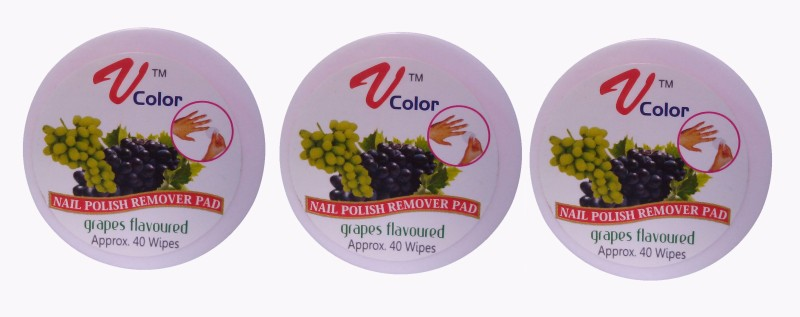 V-Color Nail Polish Remover Pads (Grapes-3)(120 g)