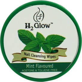 H2 Glow Mint Nail Paint Remover Pads