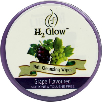 H2 Glow Grape Nail Paint Remover Pads