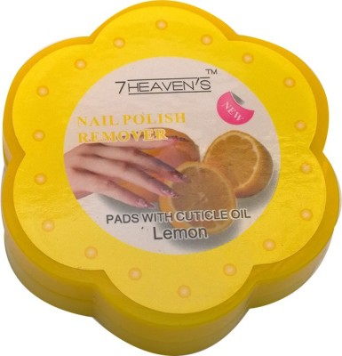Brndey 7 Heaven's Nail Polish Remover Pads with Cuticle oil in Lemon