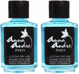 Anna Andre Paris Set of 2 Acetone Free Nail Enamel Remover