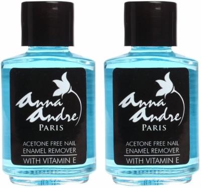 Anna Andre Paris Set of 2 Acetone Free Nail Enamel Remover