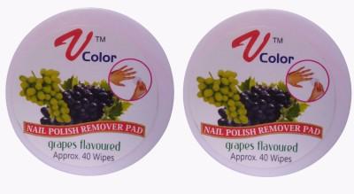V-Color Nail Polish Remover Pads (Grapes-2)