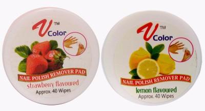 V-Color Nail Polish Remover Pads (Strawberry, Lemon)