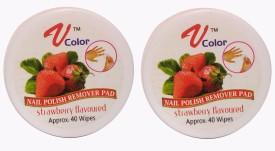 V-Color Nail Polish Remover Pads (Strawberry-2)