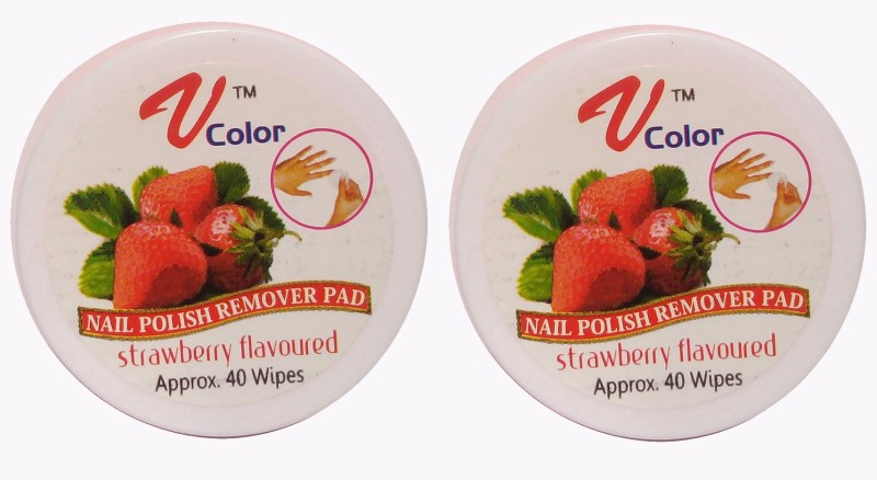 V-Color Nail Polish Remover Pads (Strawberry-2)(80 g)