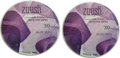 Zuush Nail Polish Remover wipes 30s x 2