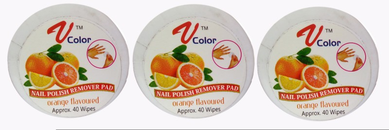 V-Color Nail Polish Remover Pads - 3 Jar(120 g)
