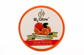 H2 Glow Orange Nail Paint Remover Pads