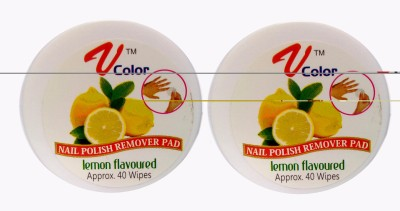 V-Color Nail Polish Remover Pads (Lemon-2)