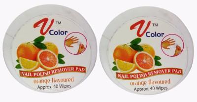 V-Color Nail Polish Remover Pads - 2 Jar