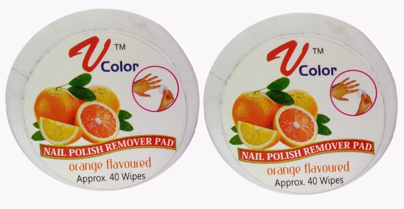 V-Color Nail Polish Remover Pads - 2 Jar(80 g)