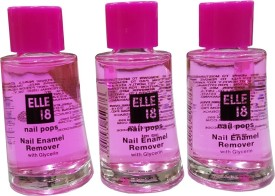 elle 18 Nail Polish remover pack of 3