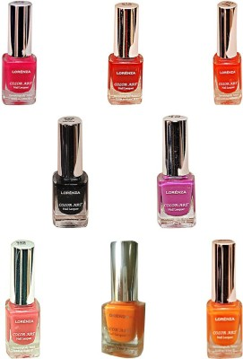 Lorenza Combo Set-22 Nail Lacquer (Pack Of 8) 15 ml