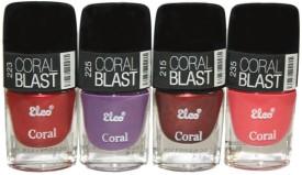 Elco Coral Nail Polish - (Pack Of 4) 24 ml