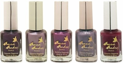 Anna Andre Paris Colorburst 1631 - Set of 5 Nail Polishes 9 ml