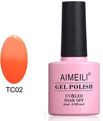 AIMEILI Soak Off Uv Led Temperature Color Changing Chameleon Gel Peaches Cream 10 ml