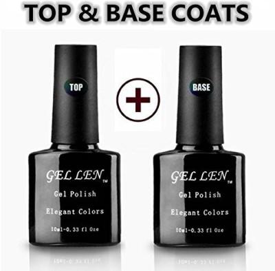 Gellen Natural Uv Top Coat Base Coat Set Each For Soak Off Gel 9.9 ml