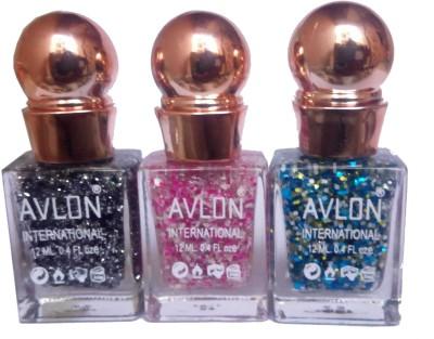 Avlon Glitter Nail Polish A.G.N.P-B3 12 ml