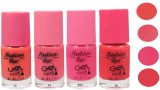 Fashion Bar Peach Nail Polish Set Of 4 P...