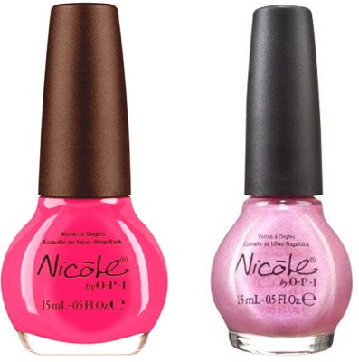 opi Nicole Pack Of 2 30 ml(Still into pink ni 409, piniknic in the park ni 361)