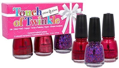 China Glaze 3 Piece Holiday Set, Touch of Twinkle 15 ml