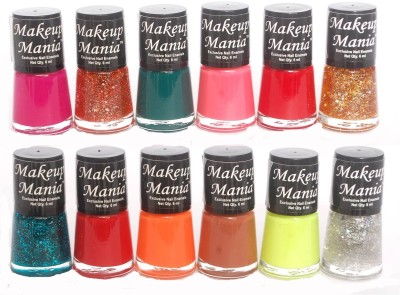 Makeup Mania Exclusive Nail Polish Set of 12 Pcs. 72 ml(Multicolor Set 75)